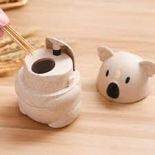 Hộp đựng tăm tre xỉa răng lúa mạch,an toàn cho sức khỏe 7*11cm+  Tặng kèm hình dán