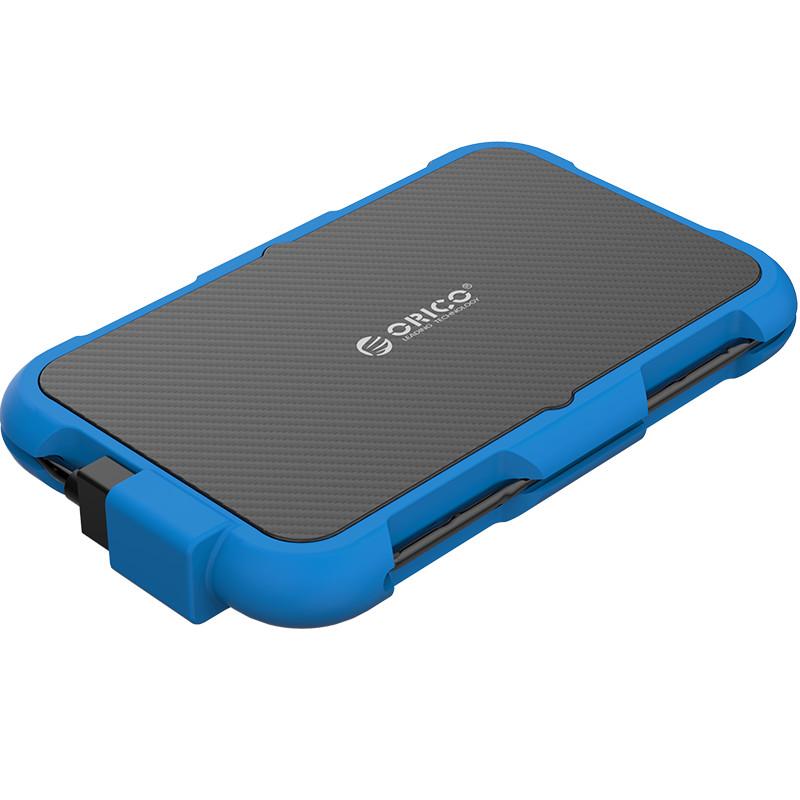 Hộp Đựng Ổ Cứng Di Động HDD Box ORICO 2739U3( Màu xanh) USB3.0/2.5 Nhựa ABS+Silica gel - Hàng Chính Hãng