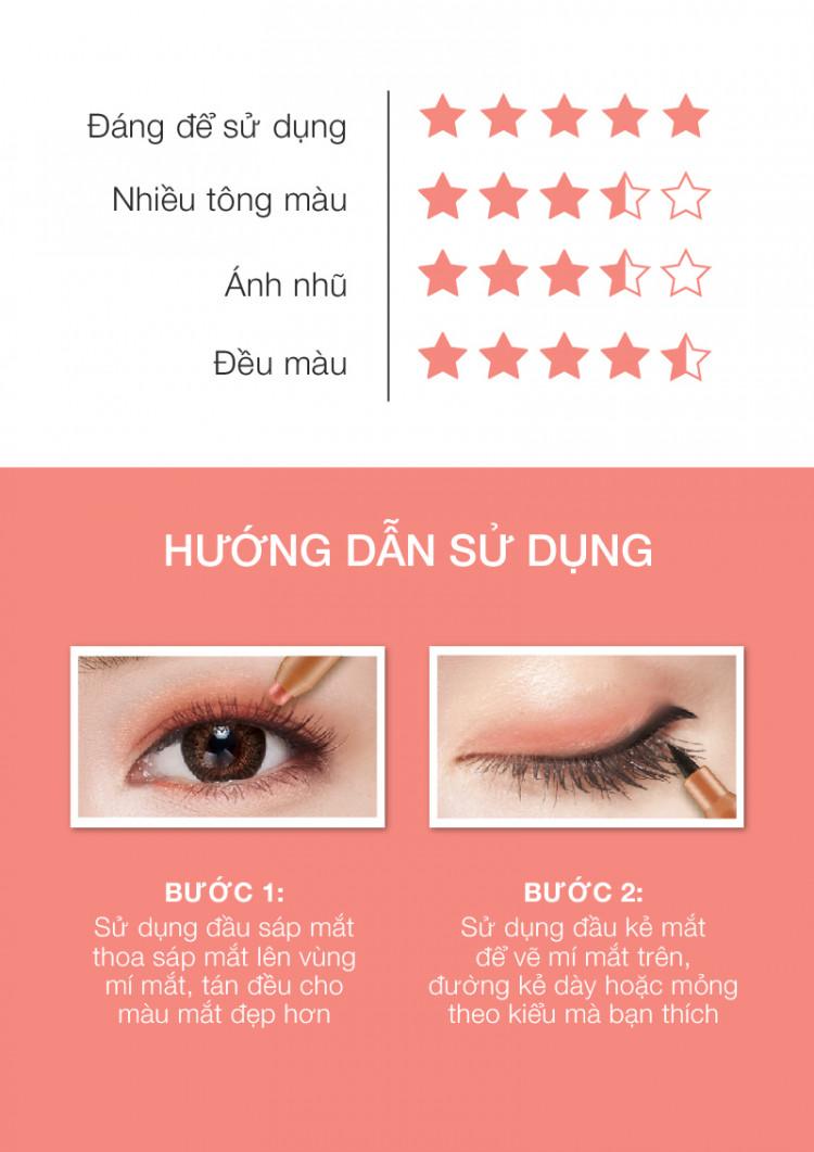 Bút sáp mắt và kẻ mắt 2in1 Browit Eyemazing Shadow and Liner 0.85ml + 0.60g 4
