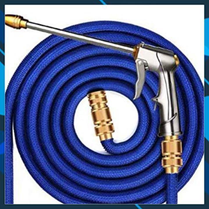 Bộ dây và vòi xịt tăng áp lực nước  rửa xe tưới cây loại 7.5m (dãn nở 22m)  206733