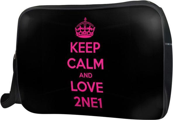 Túi Đeo Chéo Hộp Unisex Keep Calm And Love 2Ne1 - Tckk062 34 x 9 x 25 cm