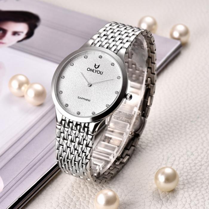 Đồng hồ Onlyou Nam U1017GA Dây thép không gỉ 40mm