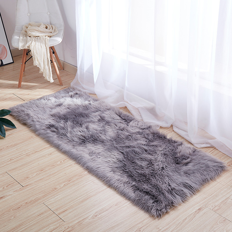 Thảm lông xám trang trí nhà cửa làm đạo cụ chụp hình sản phẩm
