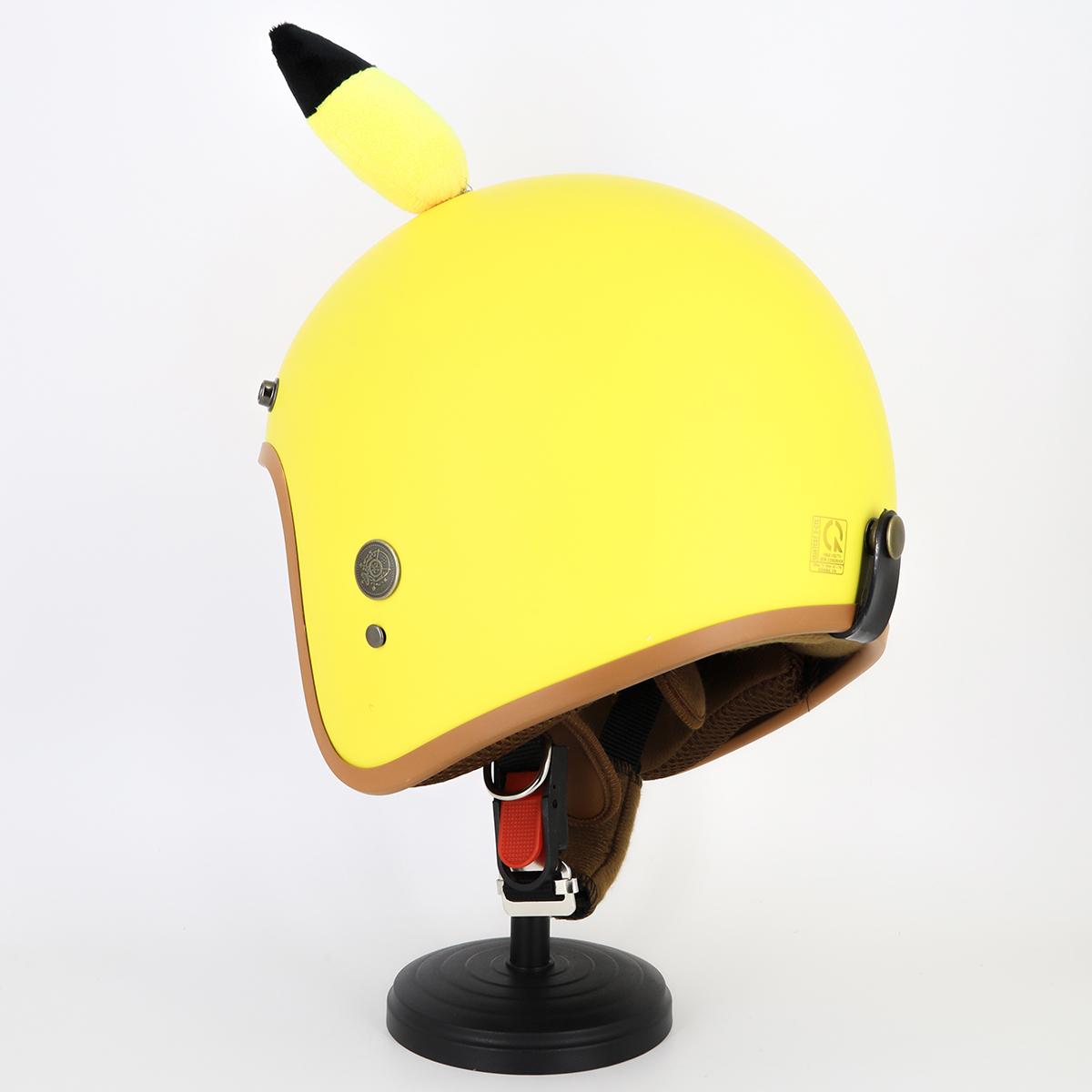 Mũ Bảo Hiểm SRT 3/4 Tem có tai hình thú nhiều màu siêu dễ thương, Kèm lưỡi chai chống nắng, chống chói theo mỗi nón