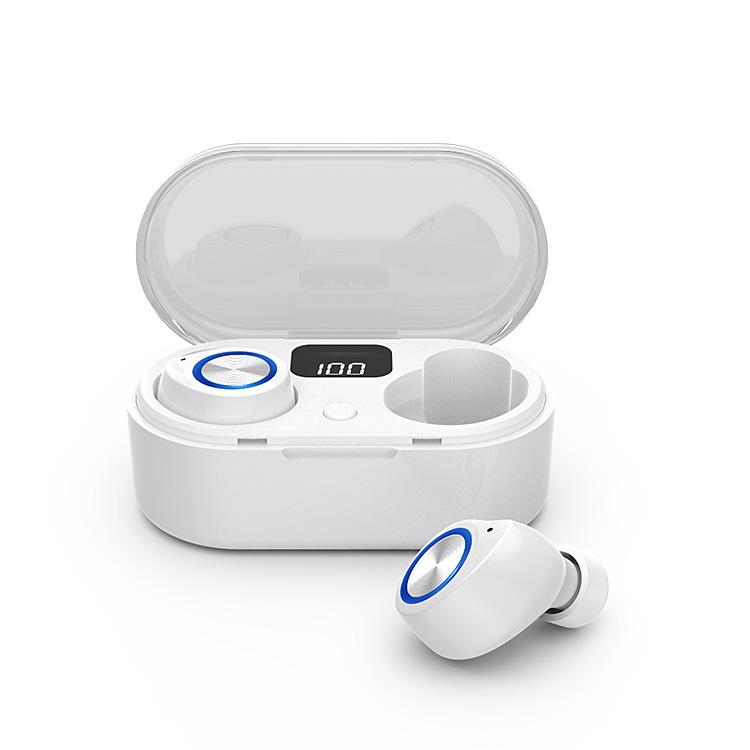 Tai Nghe Bluetooth 5.0 Cảm Ứng TOUCH TWINS Âm Thanh Vòm Stereo như nhà hát - Chống Nước IPX7 - Nghe 9h - Tích Hợp Micro - Tự Động Kết Nối - Tương Thích Cao Cho Tất Cả Điện Thoại, Ipad, Máy Tính Bảng, Laptop,