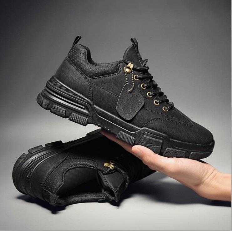 Giày Thể Thao Sneaker Nam Da Lì Trơn Phong Cách Hàn Quốc AVI - 381