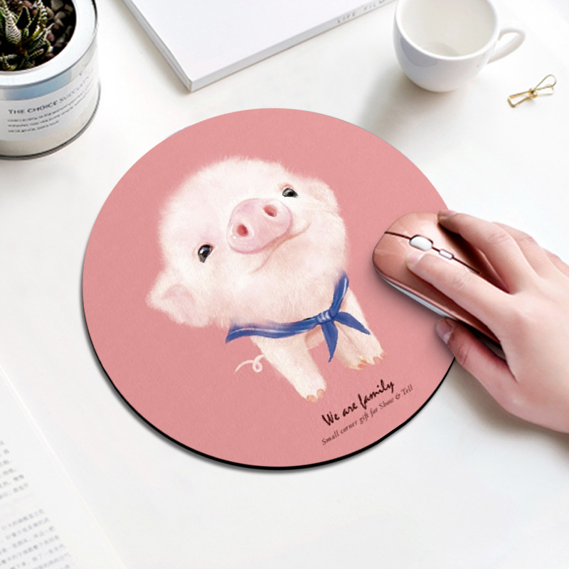 Bộ sưu tập Miếng lót chuột mousedpad cao su siêu nhạy họa tiết dễ thương (Hình tròn 20cm)
