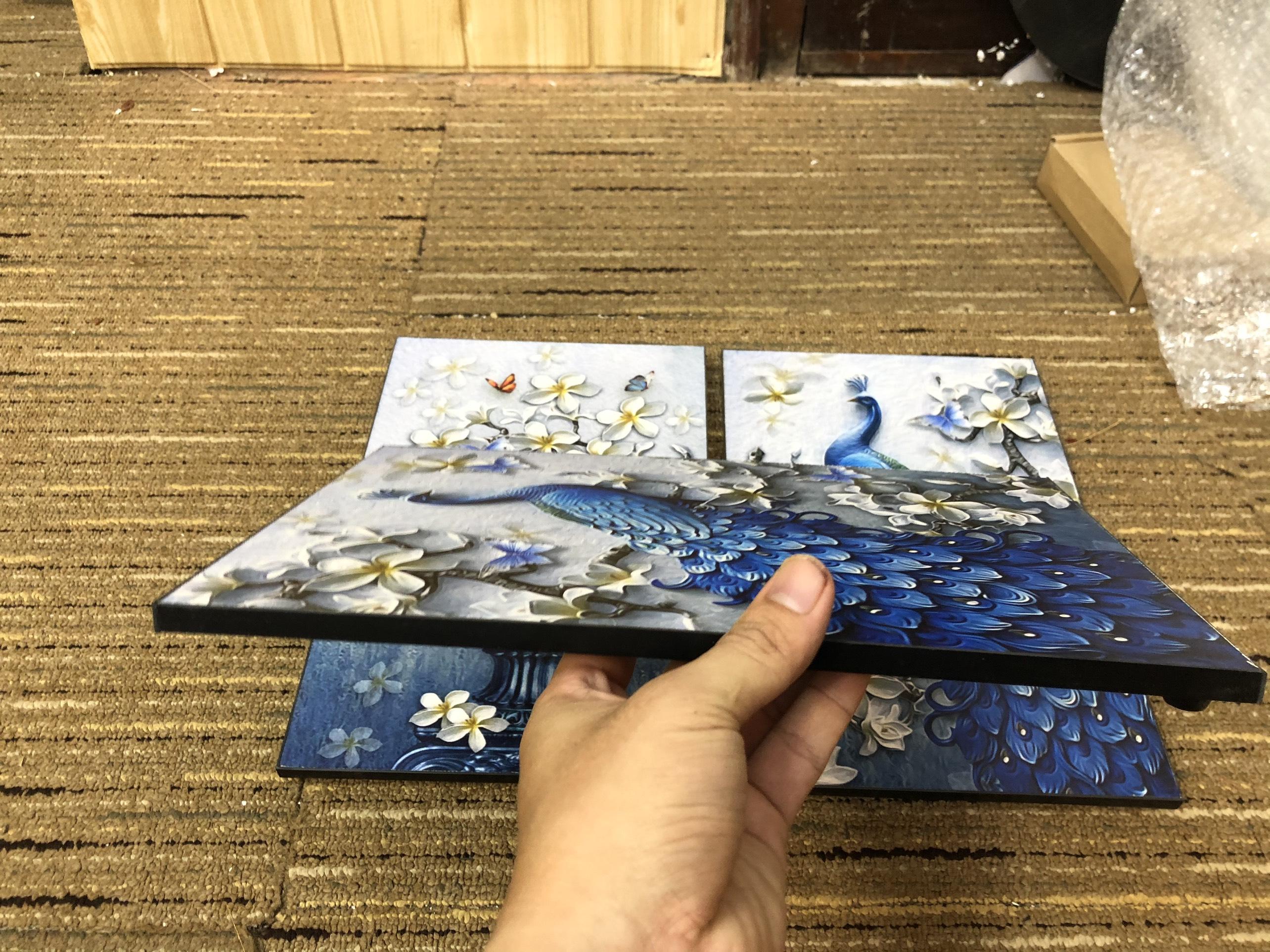 Tranh treo tường CAO CẤP 3 bức phong cách hiện đại MONSKY - Bắc Âu ND26A, In UV công nghệ Nhật Bản 3 lớp trực tiếp lên tấm FORMEX (Như tấm gỗ nguyên khối) kèm khung và đinh ghim móc treo, kích thước 20x30cm/bức
