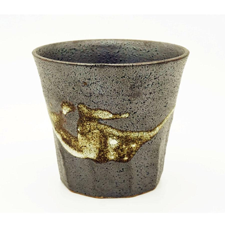 Cốc uống men sần họa tiết cổ xưa - Hàng nội địa Nhật
