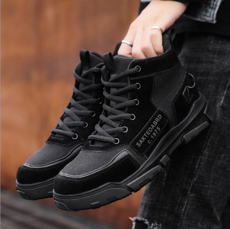 Giày thể thao nam cổ cao, giày bôt nam thời trang êm chân, thoáng khí AVI - 396