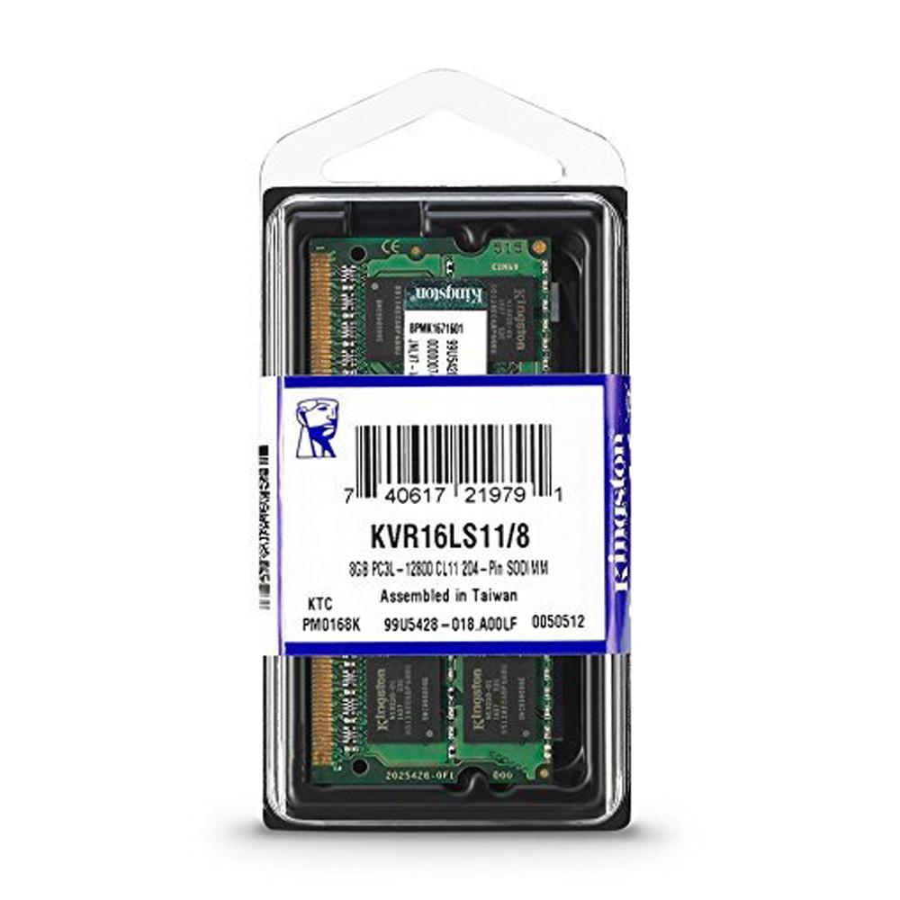 Ram laptop Kingston DDR3L 8GB (1x8GB) Bus 1600Mhz SODIMM KVR16LS11/8 - Hàng Chính Hãng