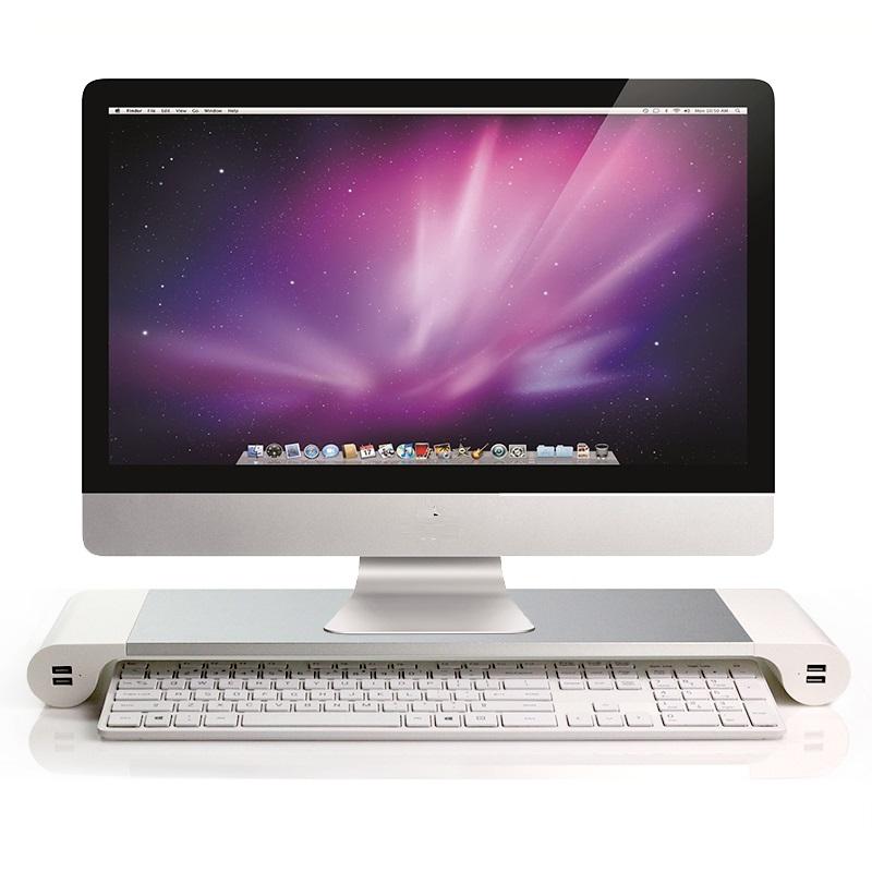 Kệ màn máy tính cao cấp siêu bền, siêu đẹp ( Tặng 03 nút kẹp cao su giữ dây điện )