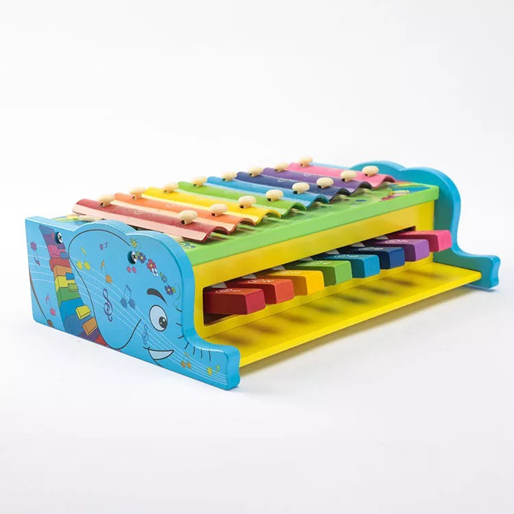 Đồ chơi tư duy - đồ chơi gỗ- đồ chơi an toàn cho bé - đàn piano gỗ MK00124