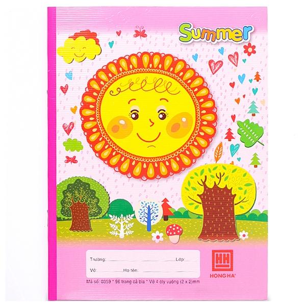Vở Class Four Season 4 Ôly Vuông (96 Trang) - 0359 - Mẫu 2 - Summer - Màu Hồng