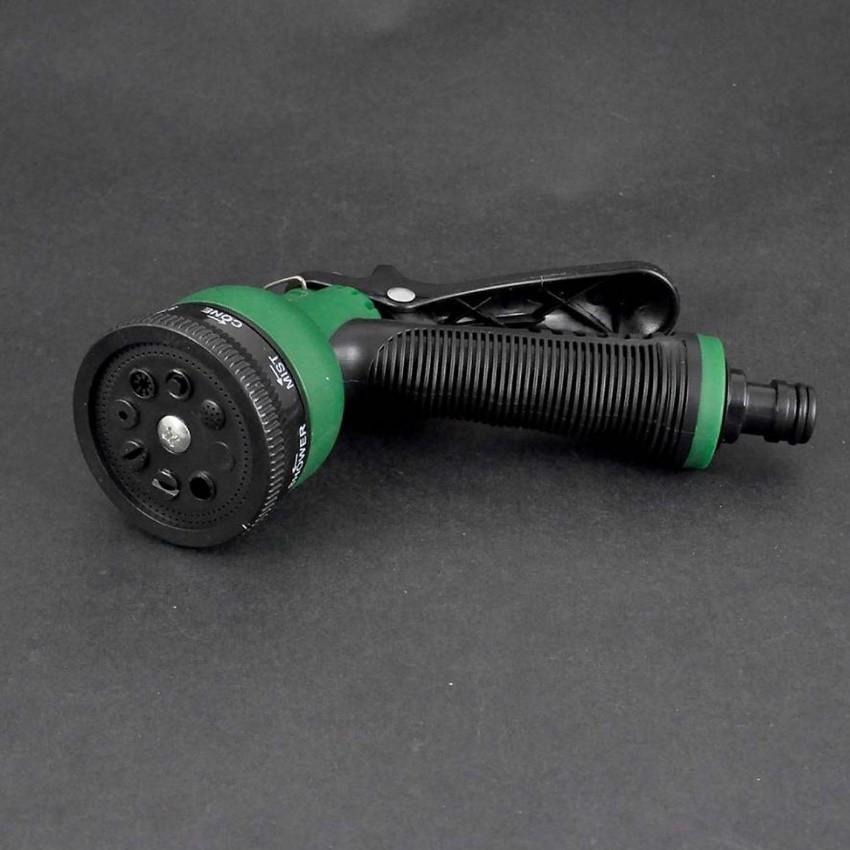 Vòi xịt rửa xe,Vòi phun nước tưới cây tăng áp thông minh 8 chế độ 815576 (cút vàng,nối xanh - dây xanh)