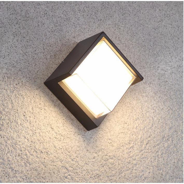 Đèn gắn tường ngoài trời hiện đại hộp vuông nghiêng VNT604