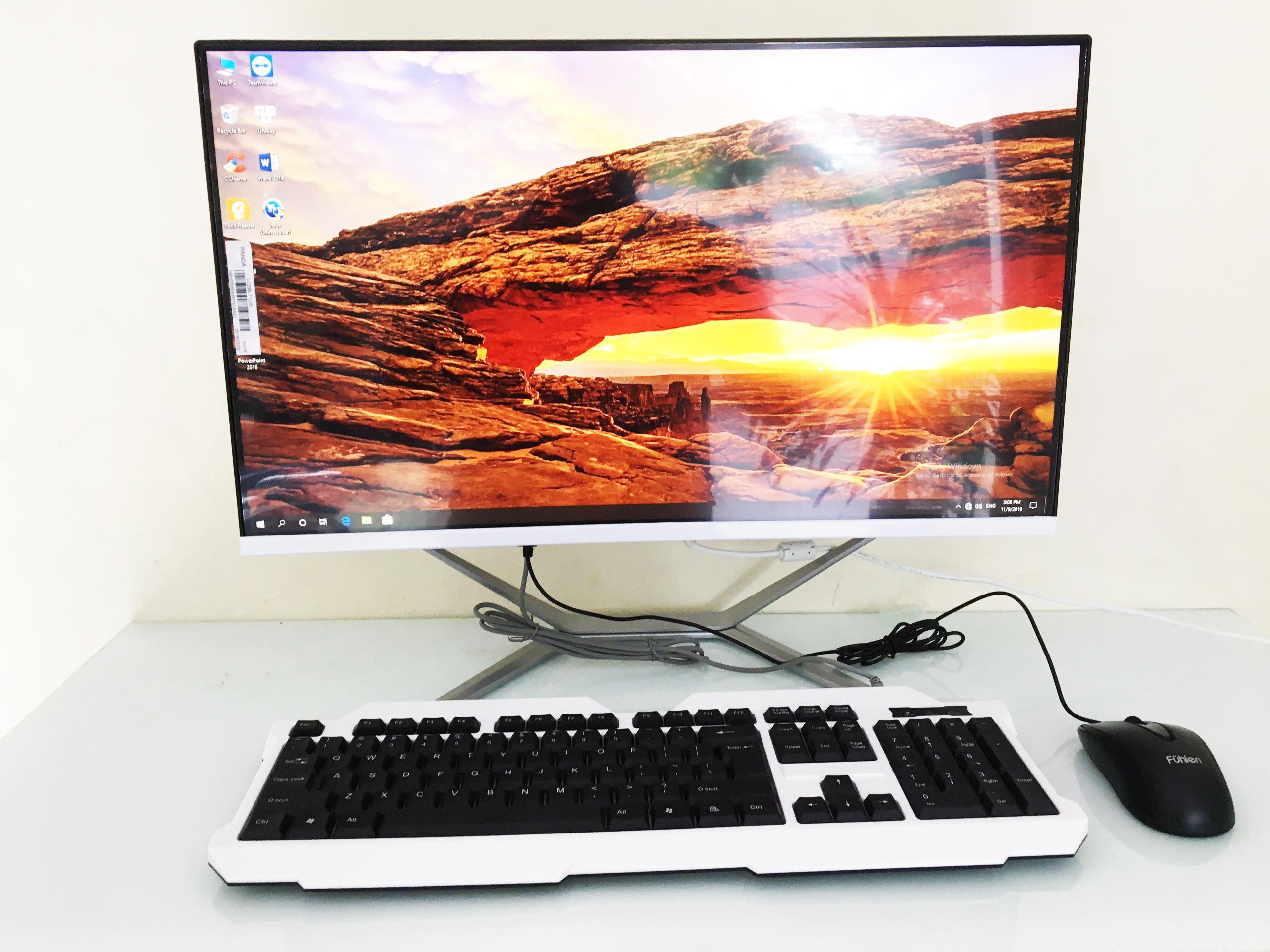 Bộ máy tính  Kiwivision All in one , CPU G4400, Ram 4G, máy tính trong màn hình-Hàng chính hãng