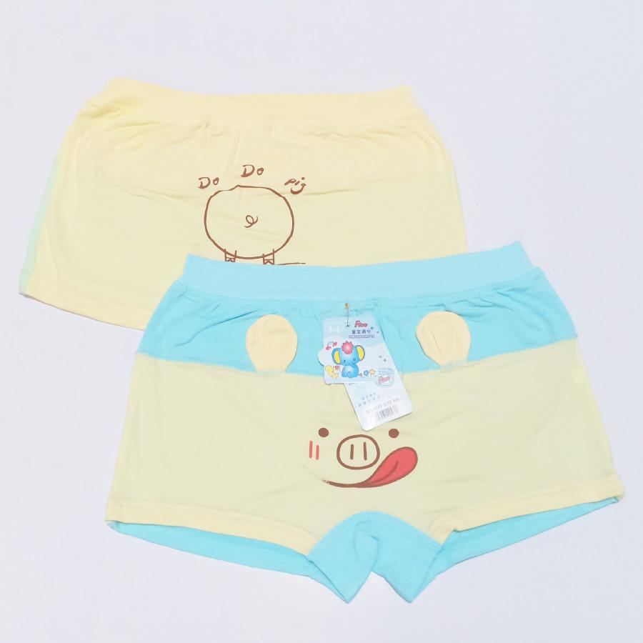 Set 10 quần lót đùi cho bé gái có chú heo in sau mông màu ngẫu nhiên