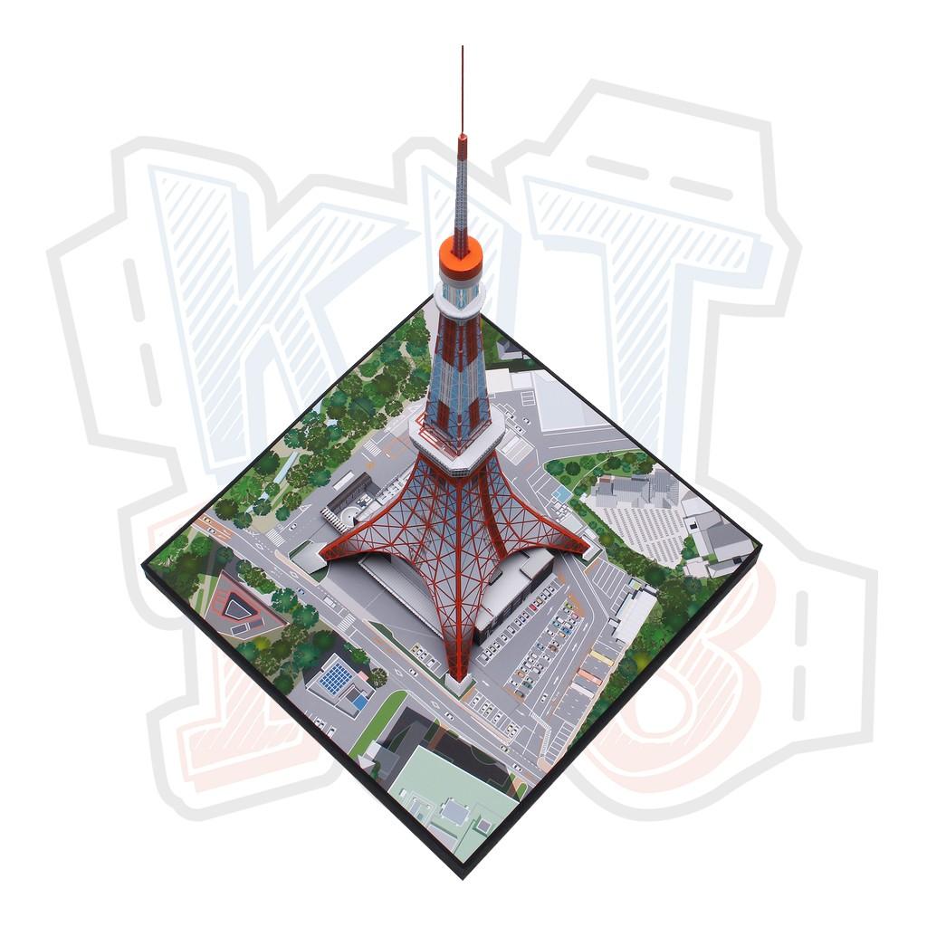 Mô hình giấy kiến trúc Nhật Bản Tháp Tokyo