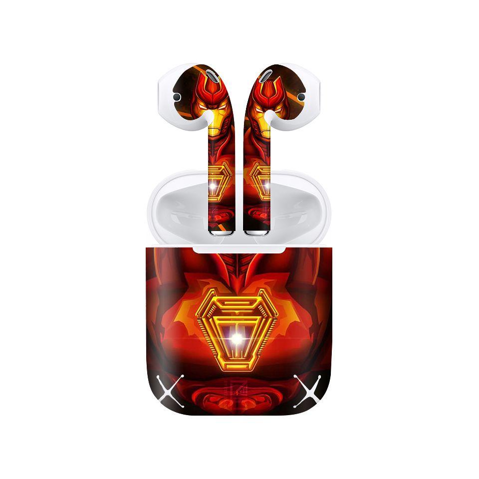 Miếng dán skin chống bẩn cho tai nghe AirPods in hình siêu anh hùng - SAH0088 (bản không dây 1 và 2)