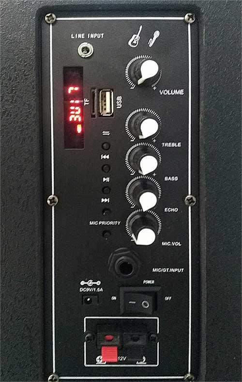 Loa kéo karaoke Kiomic ZL-808, loa mini với công suất max 150W