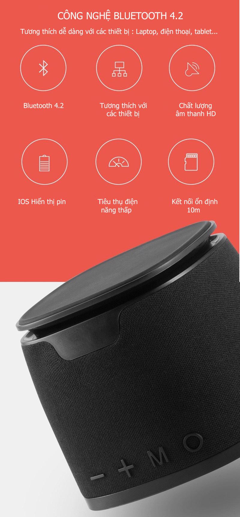 Loa Bluetooth Âm thanh HiFi - Hỗ trợ sạc không dây L1