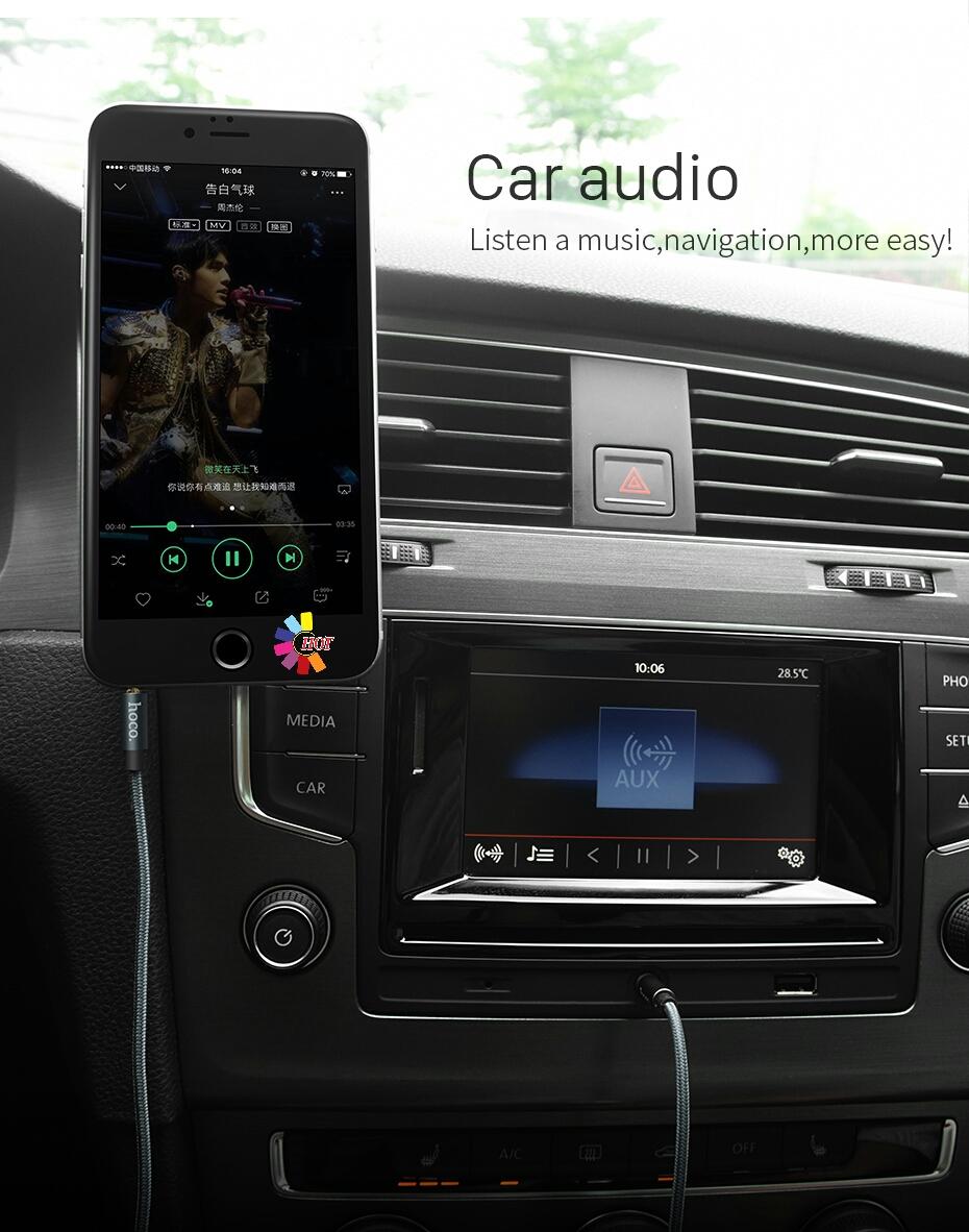 Hoco- Cáp Audio 2 đầu 3.5mm UPA04 Dài 1m - Hàng Chính Hãng