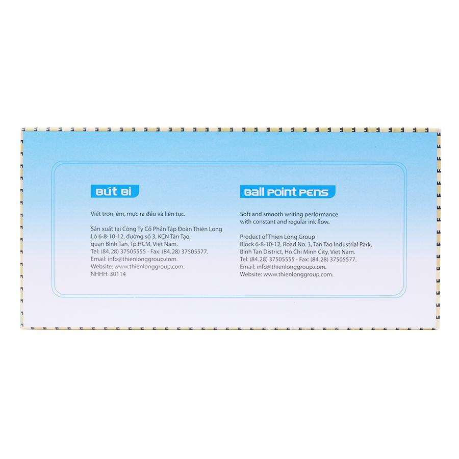 Hộp 20 Cây Bút Bi Thiên Long TL-034 (360 Độ)
