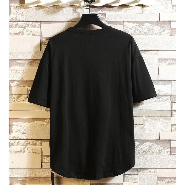 Áo thun tay lỡ zipper streetwear  (áo thun tay lỡ unisex nam nữ mặc được)