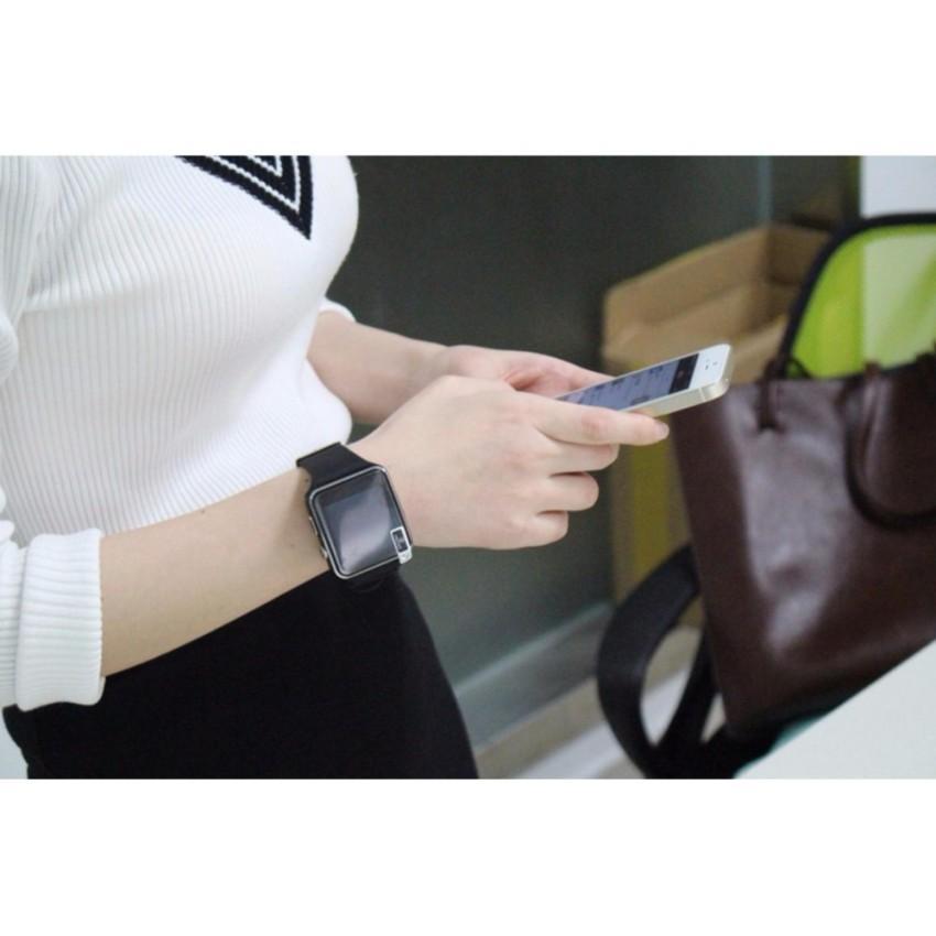 Đồng hồ thông minh Mặt Cong H6 Đen