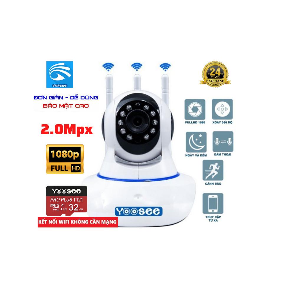 Camera Wifi  Yoosee 3 râu 2.0 - Full HD 1080P - Hàng Chính hãng