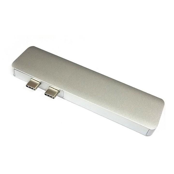 Bộ chia 2 cổng USB-C ra 2 cổng USB-A và 1 cổng USB-C kiêm đầu đọc thẻ