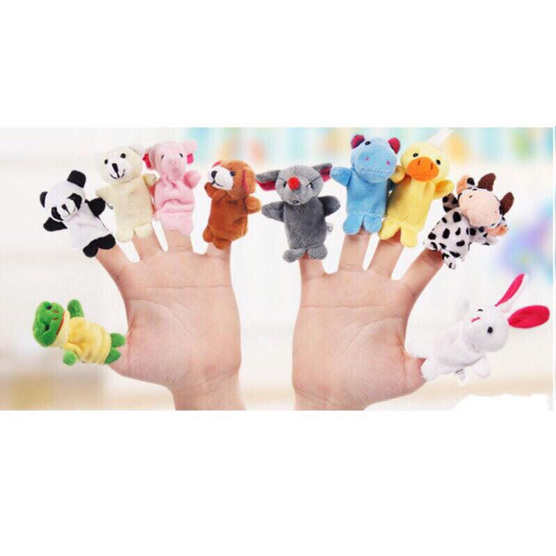 Bộ thú rối 10 con xỏ ngón tay