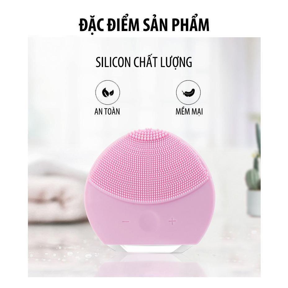 máy rửa mặt 5 in 1,Máy rửa mặt Foreo Luna Mini, Rửa sạch sâu bên trong, Massage giúp da căng bóng mịn màng