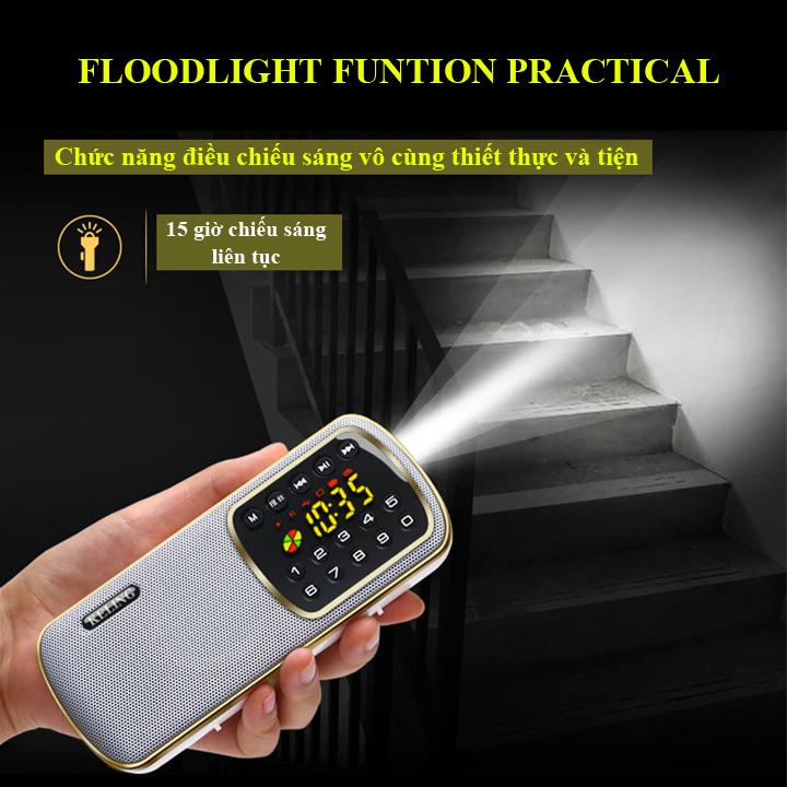Máy Nghe Nhạc Sử Dụng Thẻ Nhớ, USB, Nghe Đài FM Keling F3 (hàng nhập khẩu)