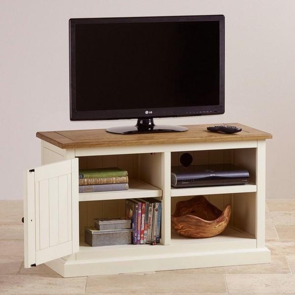 Tủ TV 1 Cánh Shutter Gỗ Sồi Ibie LV1SHUO - Trắng (100 x 42 cm)