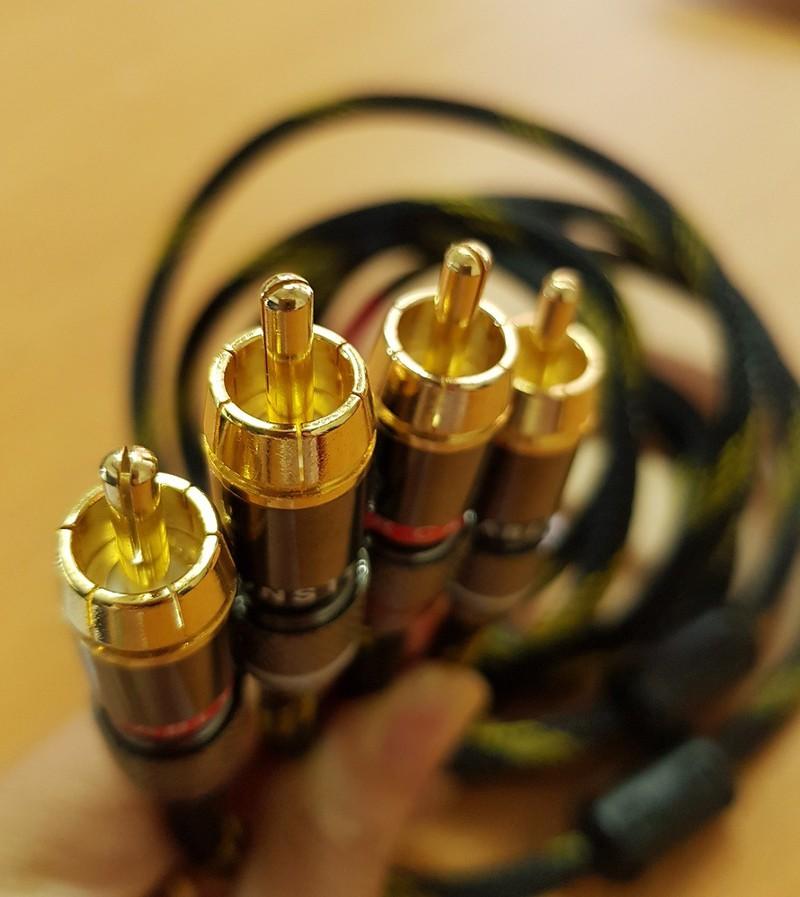 Dây tín hiệu Audio Monster standard 100 hai đầu RCA chống nhiễu dài 1,5 mét - Hàng Chính Hãng