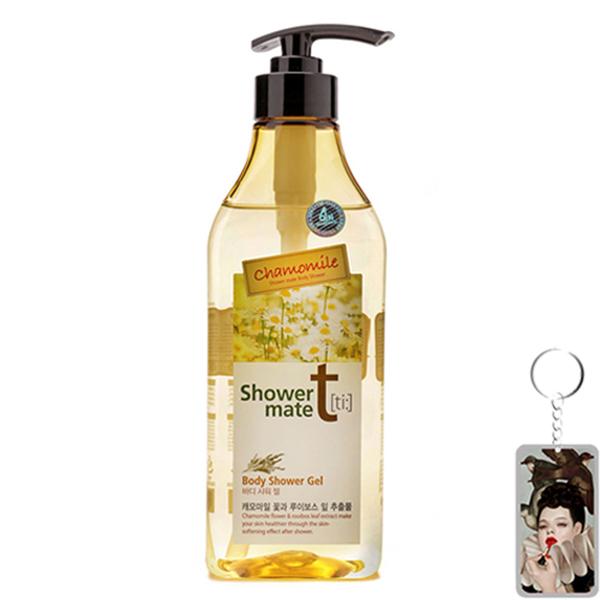Sữa tắm hương hoa cúc mịn da lưu hương Showermate Hàn Quốc 550ml tặng móc khóa