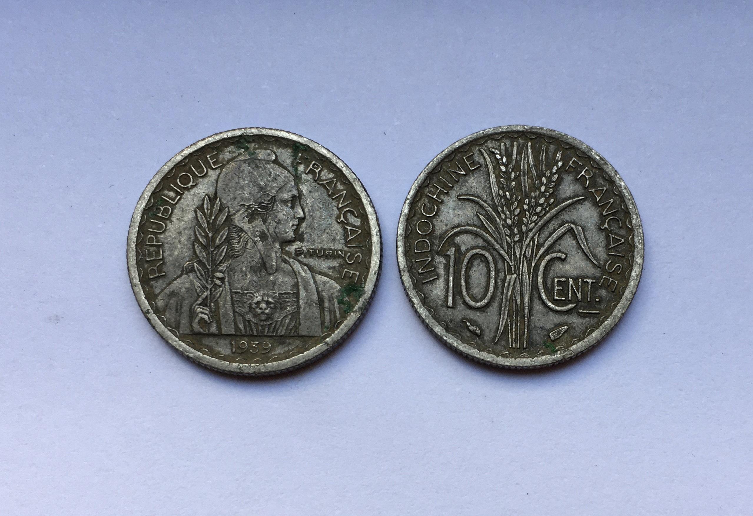 Xu Cổ Đông Dương Việt Nam 1 Cent 1943 [Xu Cổ Xưa Sưu Tầm, Phong Thủy]