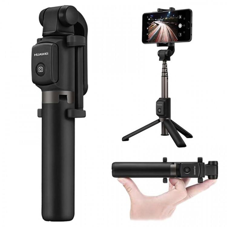 Huawei AF15 Bluetooth Selfie Stick Tripod Stand 55030005 Black 03052018 01 p - Gậy chụp hình Selfie Tripod Huawei 360 độ AF15