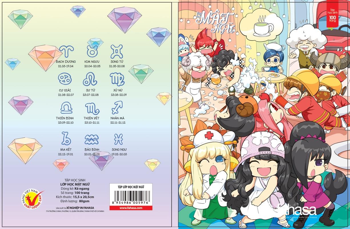 Tập Lớp Học Mật Ngữ - 100 Trang - Kẻ Thường ( 2 Mẫu Bìa Ngẫu Nhiên)
