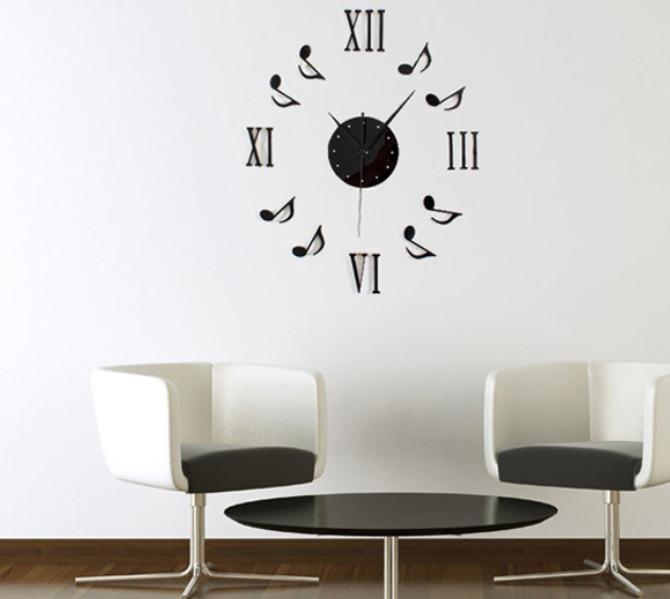 Đồng hồ số mica NỐT NHẠC A6
