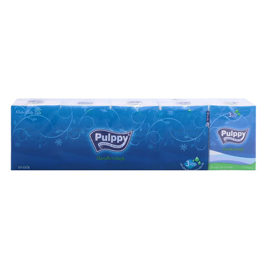 Lốc 10 Gói Khăn Giấy Lụa Pulppy Compact (10g)