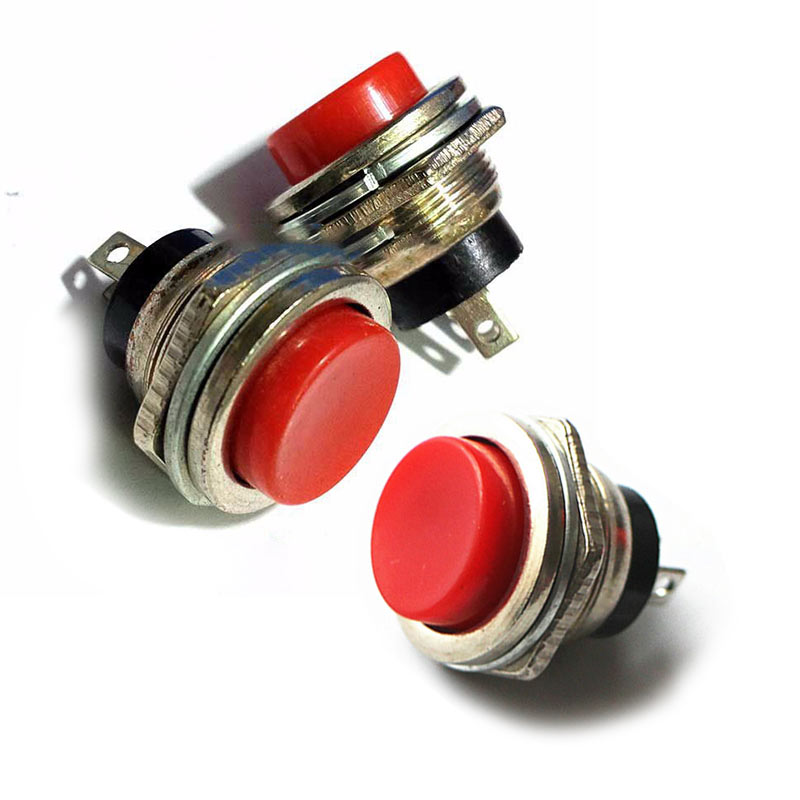 Bộ 3 Nút Nhấn Đề Sắt Loại To 15mm- Màu Sắc Ngẫu Nhiên Đỏ Xanh