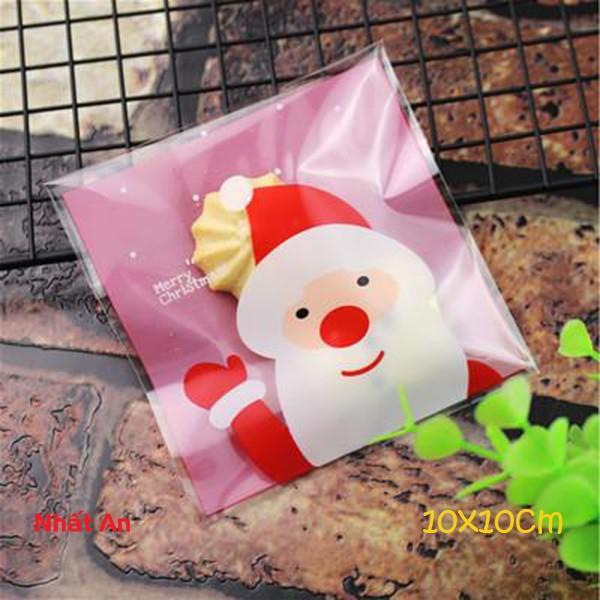 Túi dán Noel 10x10cm (Mẫu 13) - 100 cái