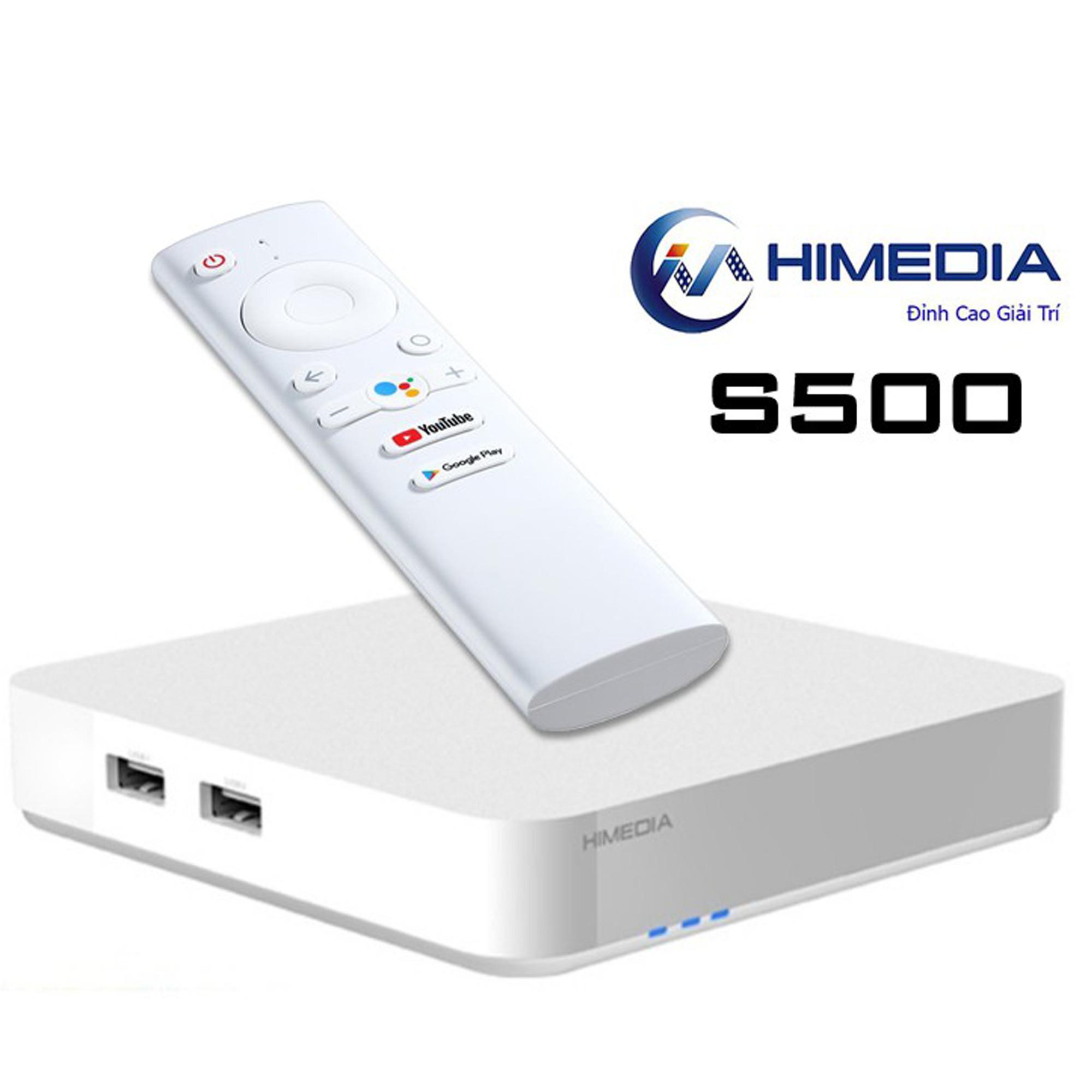 Android Tv Box HIMEDIA S500 - Android Chính Chủ Google 9.0, Ram 2G, Có Cổng Quang - Hàng Chính Hãng