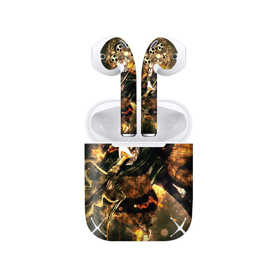 Miếng dán skin chống bẩn cho tai nghe AirPods in hình One Piece - OPi003 (bản không dây 1 và 2)
