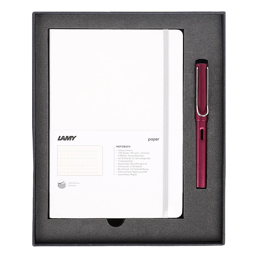 Gift Set Lamy Notebook A5 Softcover White + Lamy Al-Star Purple - GSNAl0020