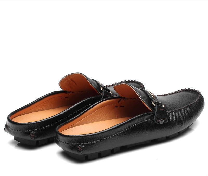 Giày mọi giày lười big size cỡ lớn bằng da bò cho nam cao to - GL044