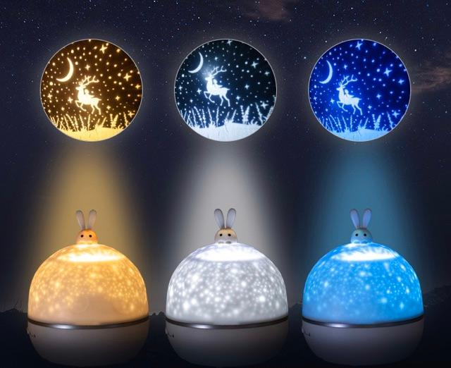 đèn ngủ chiếu sao thỏ 8 SET LOA BLUETOOTH, cổ tích, đại dương,sinh nhật,xoay tự động đèn led️